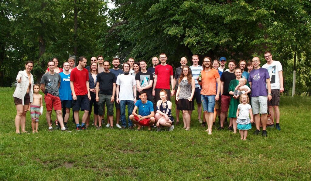 Group picture at the Computer Graphics BBQ event (CGBBQ) in 2019