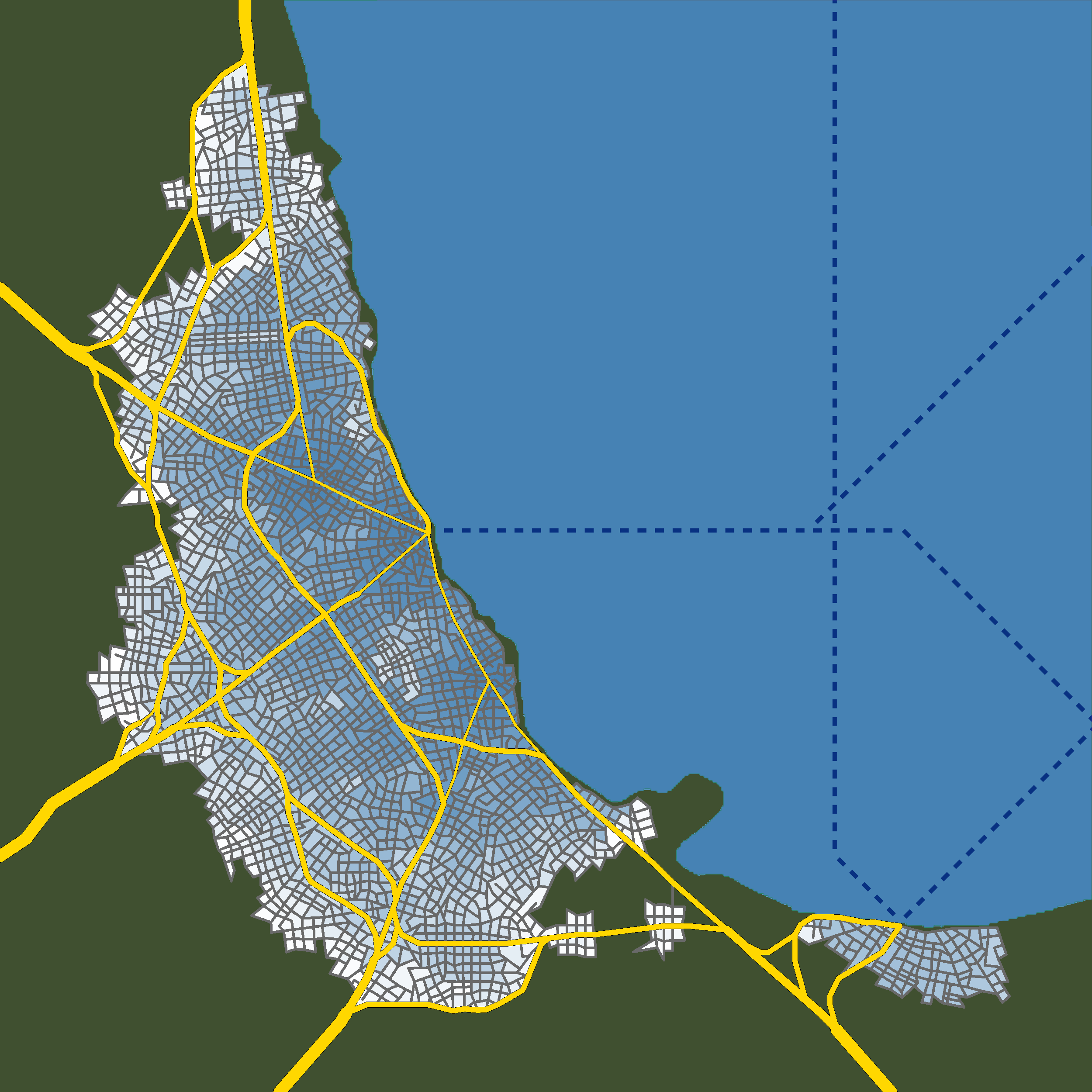 Procedural Modelling of Urban Road Networks