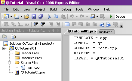 How to use Qt GUI framework for projects